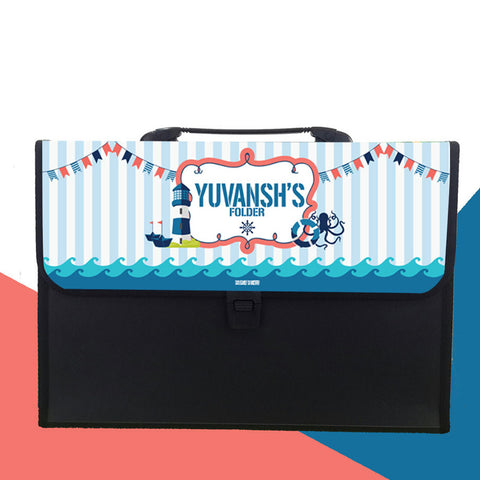 Personalised Folder - Nautical