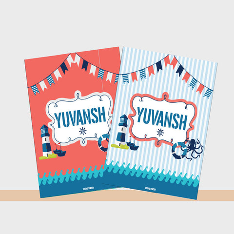 Notebooks, Set of 2<br/>Nautical Theme