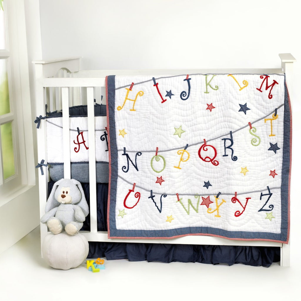 Now I Know My ABCs Boy Complete Bedding Set <br> With Free Personalisation