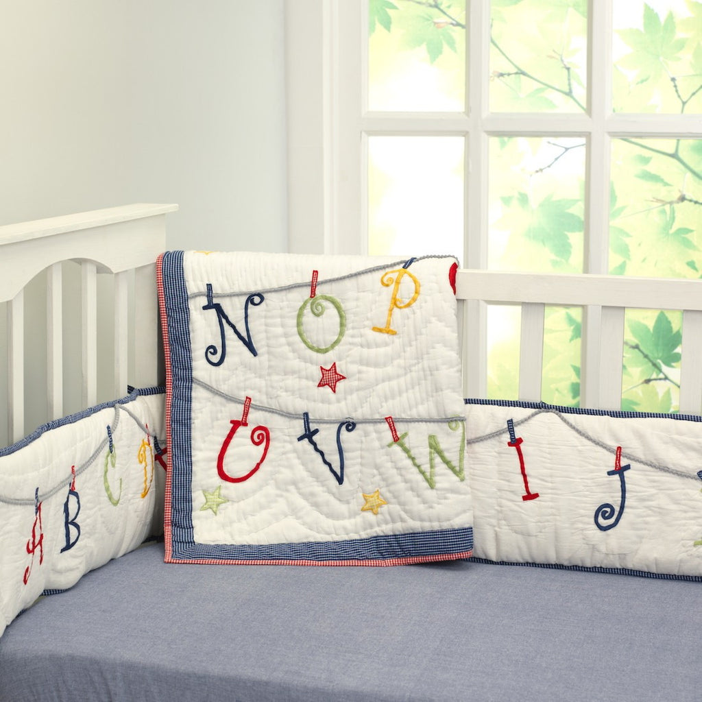 Now I Know My ABCs Boy Bedding Set