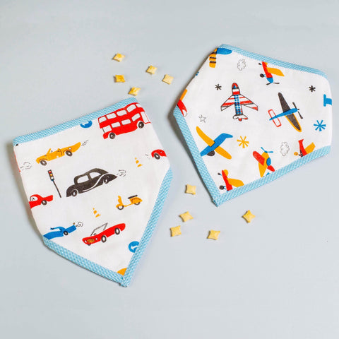 Off-We-Go! Bandana Bibs, Set of 2