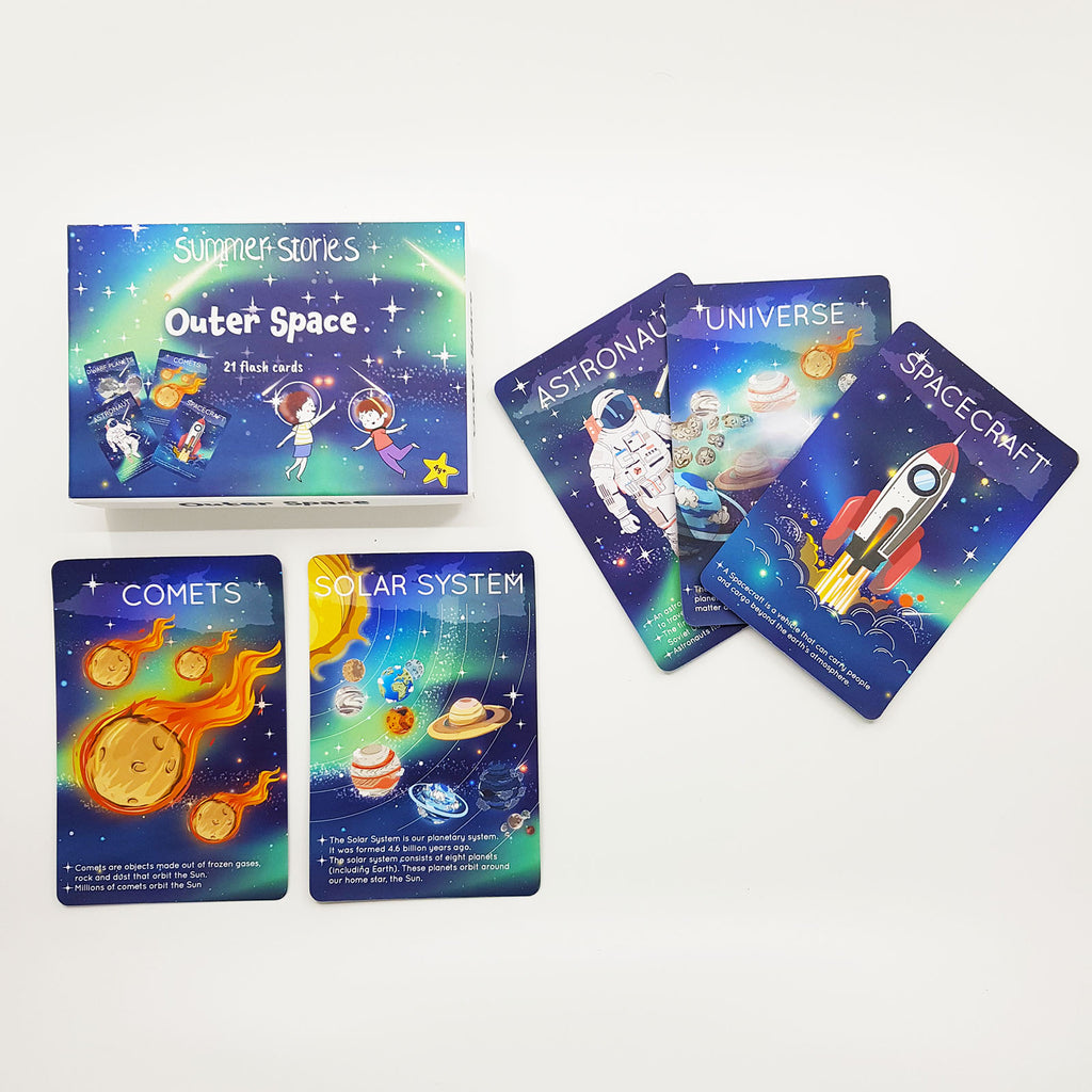 Summer Stories - Explorer Bundle (4-8yrs) | 5 Boxes of 107 Cards | Underwater World, Outer Space, Countries, Emotions & Acts of Kindness