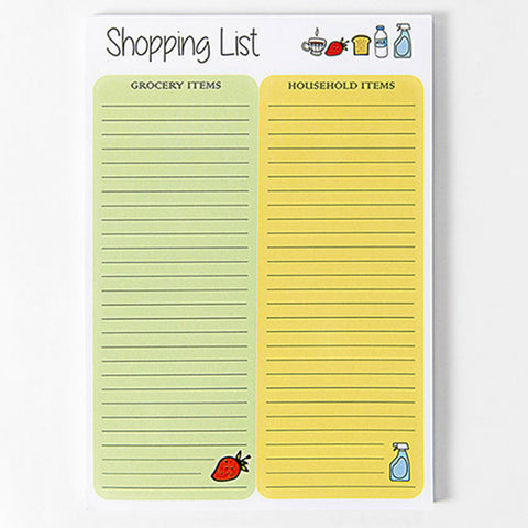 Shopping List Notepad