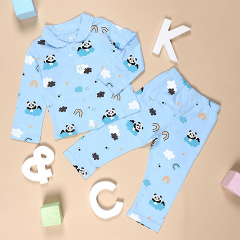 Kicks & Crawl- Panda in the Clouds Nightsuit (3-24M)