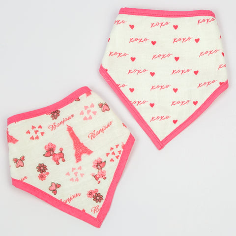 Paris Bandana Bibs, Set of 2