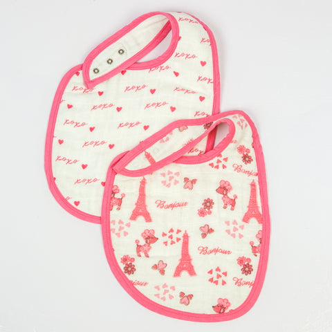 Paris Muslin Bibs, Set of 2