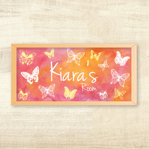 Name Frame - Butterfly