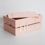 Personalised Name Box, Pink