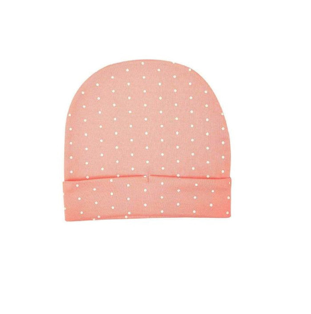 Organic Cotton Cap - Pink & White PolKa