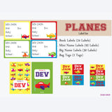 Label Set - Airplane, 146 labels and 2 bag tags
