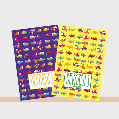 Personalised Notebooks - Airplane, Set of 2
