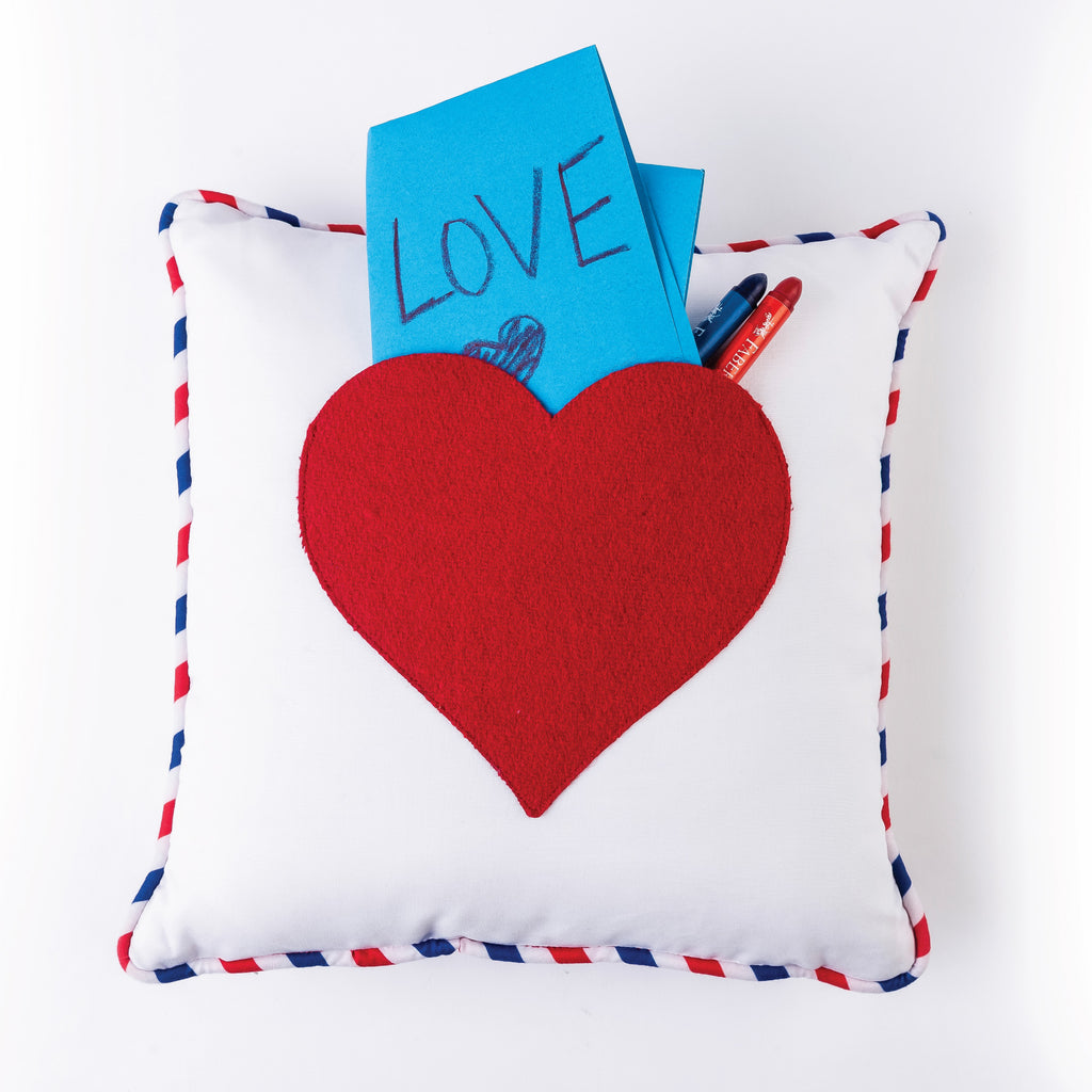 Pocket Pillow - Heart Pillow