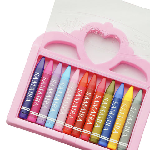 Personalised Melissa & Doug Wax Crayons: Princess