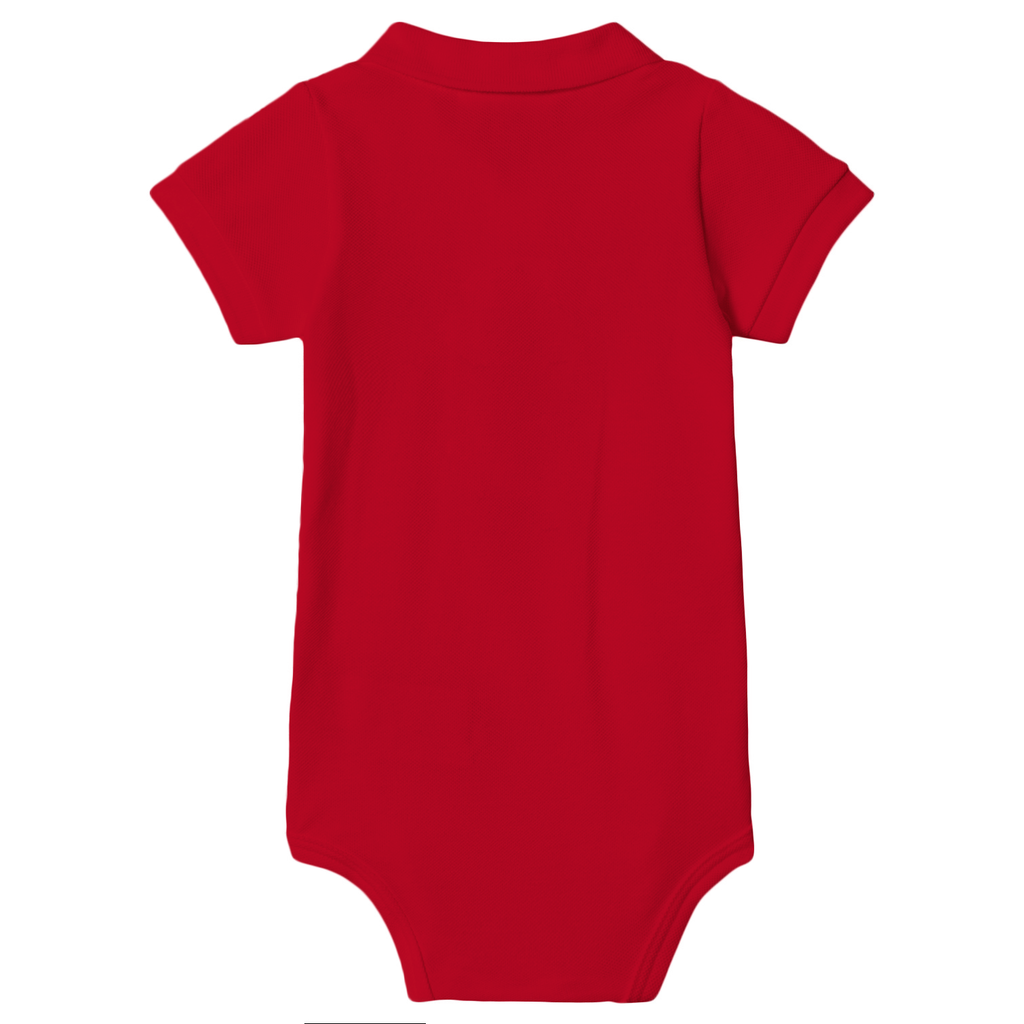 Pique Polo Onesie Set of 2 (Red & Green)