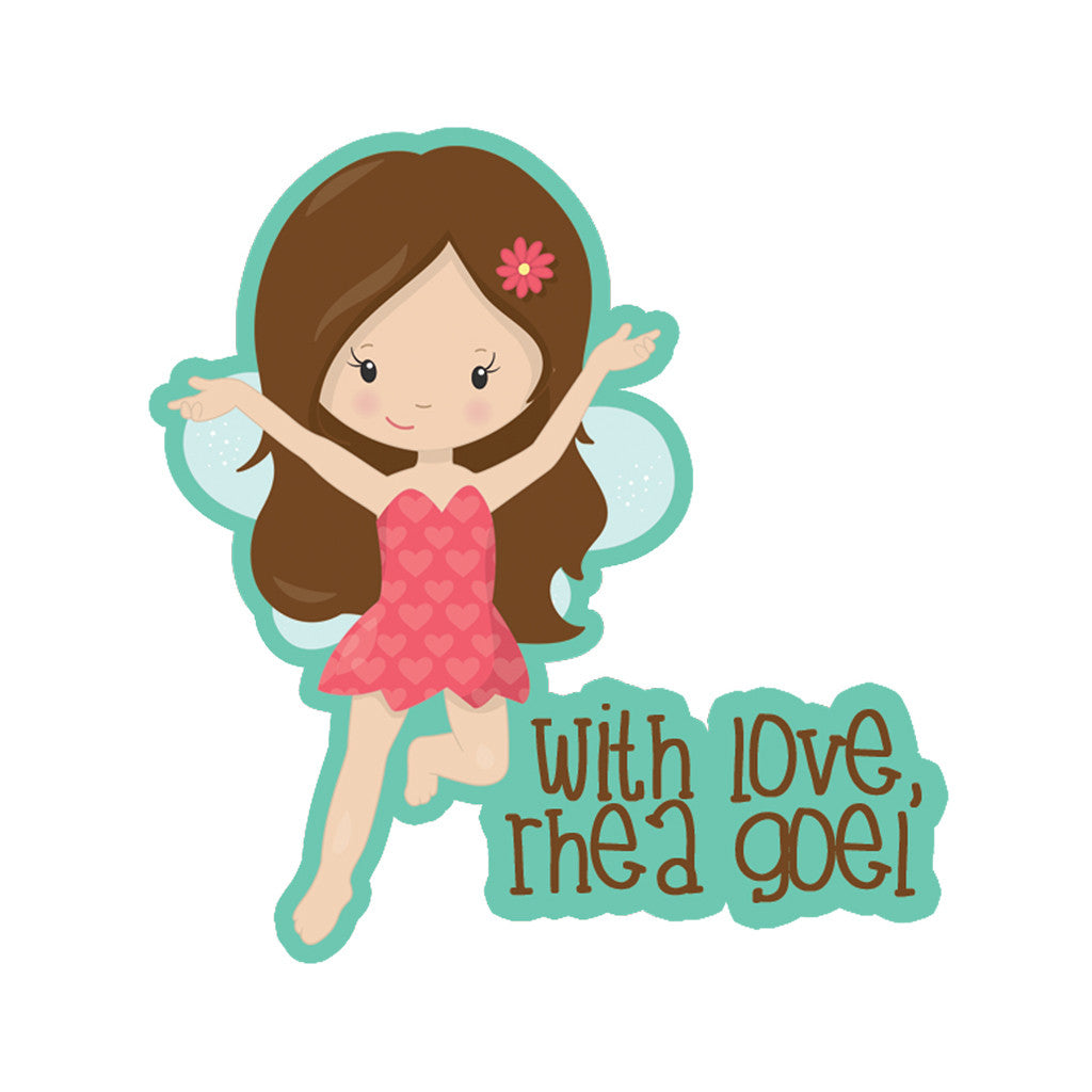 Personalised Gift Stickers - Happy Girl, Set of 18
