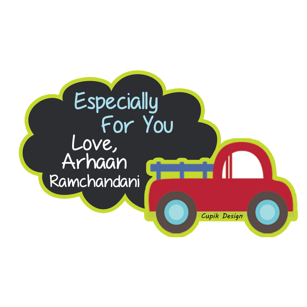 Personalised Gift Stickers - Car, Set of 18
