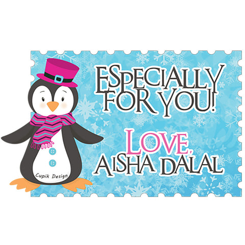 Personalised Gift Stickers - Penguin, Set of 18