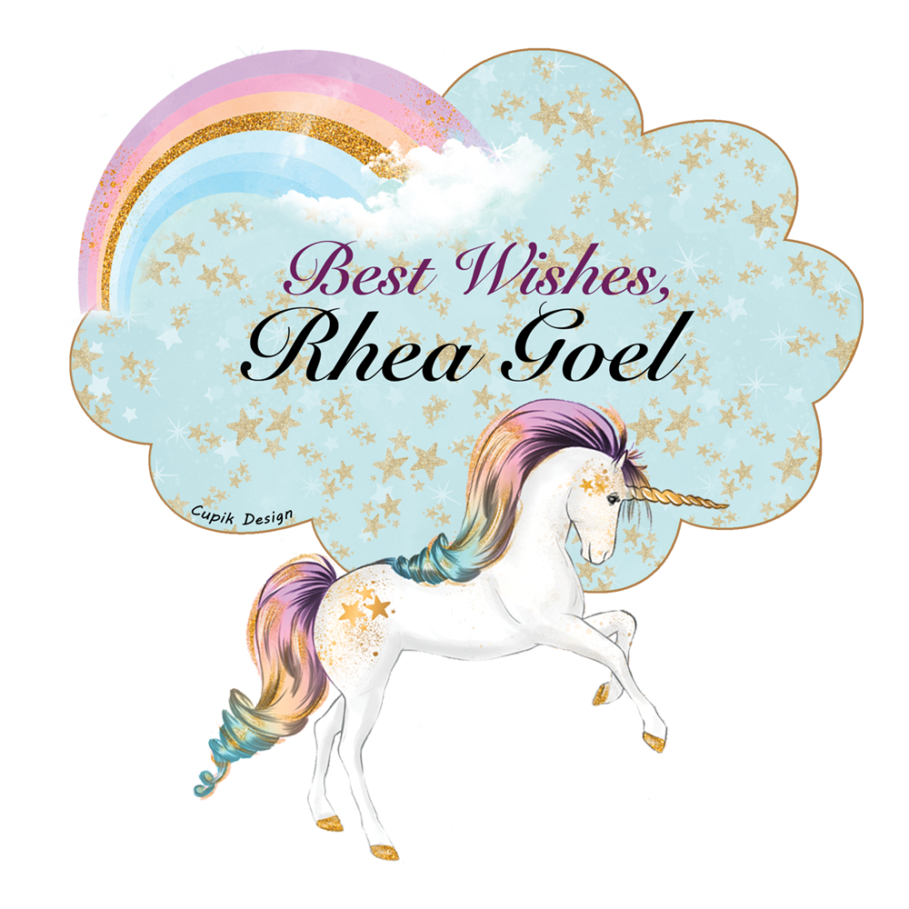 Personalised Gift Stickers - Unicorn, Set of 18