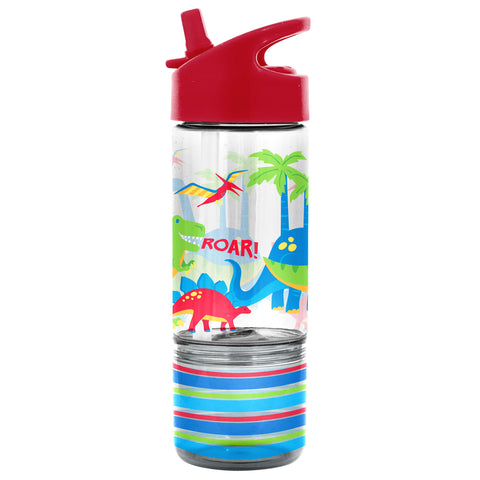 Stephen Joseph Flip Top Bottle with Snack Container - Dino