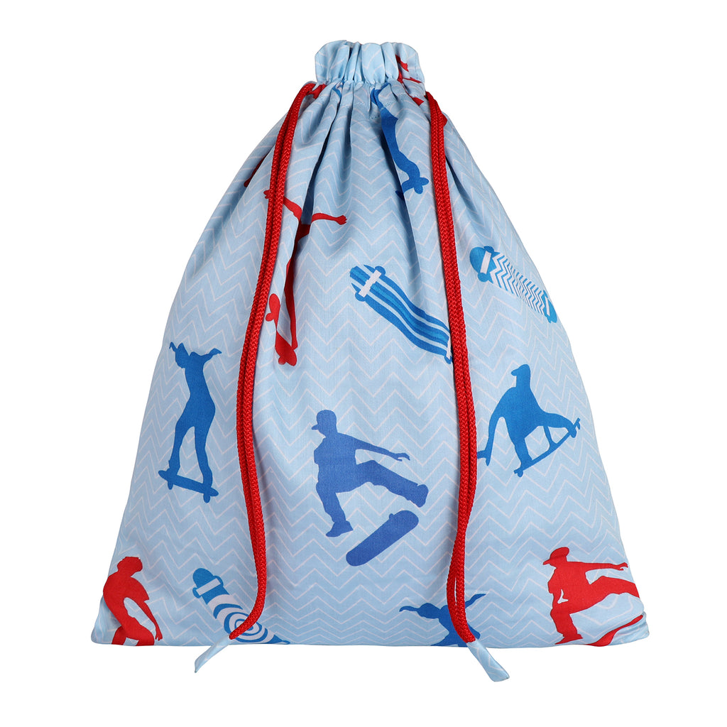 Drawstring Shoe Bag - Skate Board