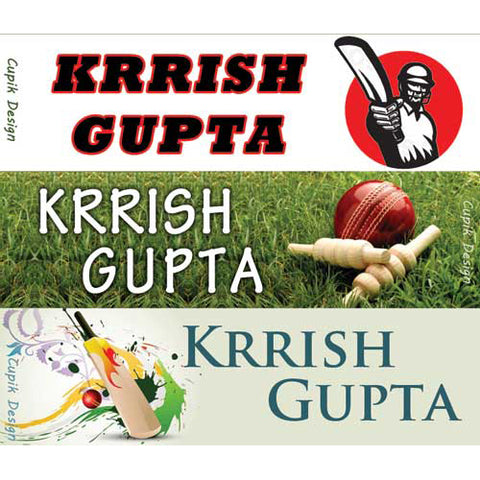 Name Stickers - Cricket, Set of 45