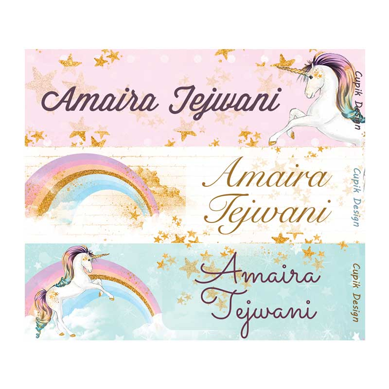 Name Stickers - Unicorn, Set of 45