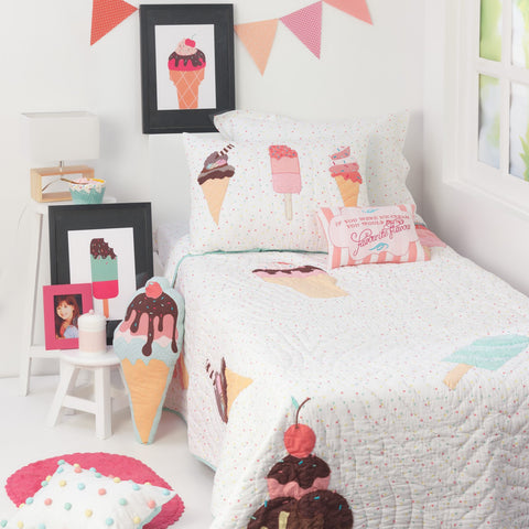 Scoops & Smiles Kids Bedding Set <br> With Free Personalisation, Ages 3 to 15