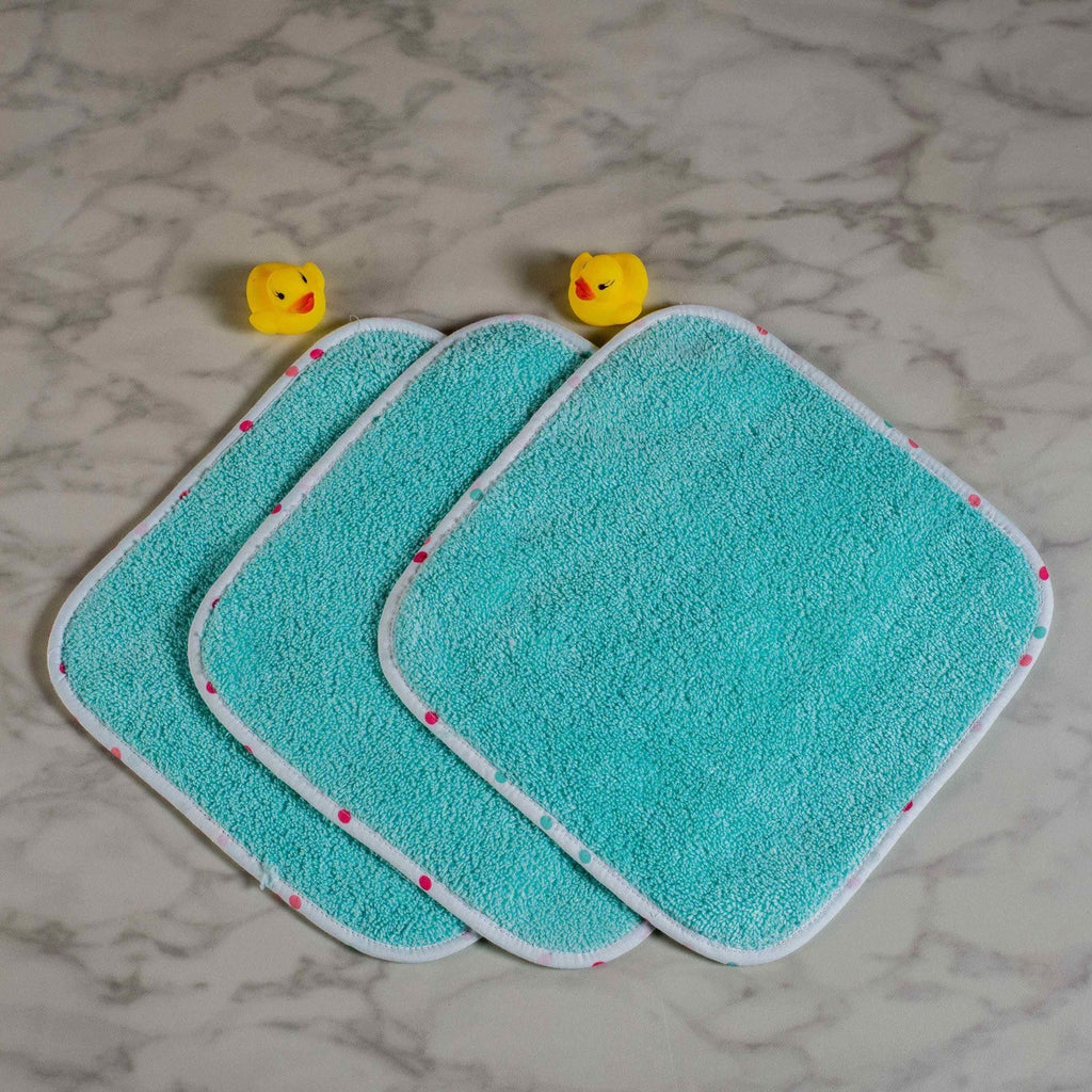Scoops & Smiles Wash Cloths, Set of 3