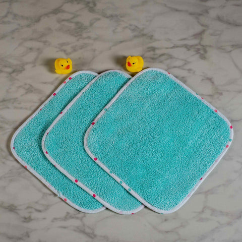 Scoops & Smiles Wash Cloths <br> Set of 3