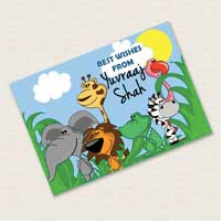 Personalised Notecards - Animals, Set of 20