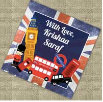 Personalised Gift Tags - London, Set of 20