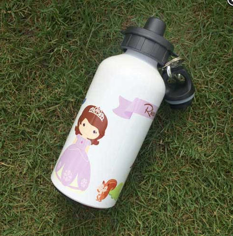 Personalised Water Bottle - Purple Princess