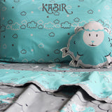 """Bundle of Joy"" Counting Sheep Double Bedsheet Set - Blue"