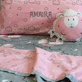 """Bundle of Joy"" Counting Sheep Double Bedsheet Set - Pink"