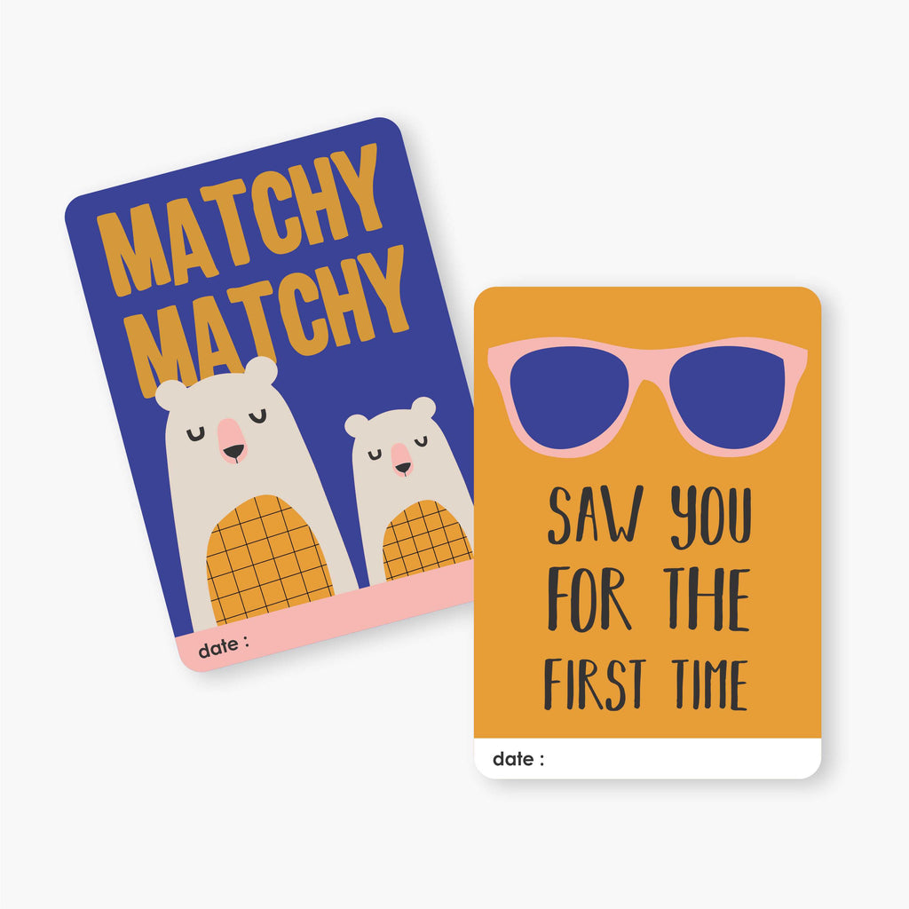 Mini Milestone Cards | Sibling