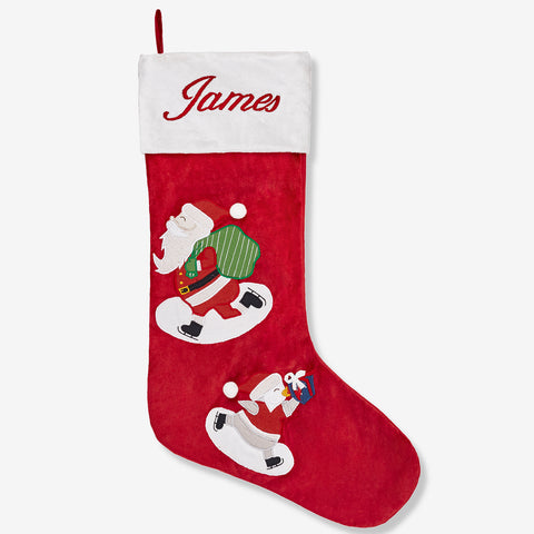 Personalised Stocking - Ice-Skating  (Winter Joys Collection)