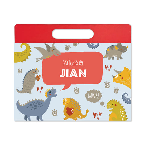 Personalised Travel Sketch Pad - Dinosaur
