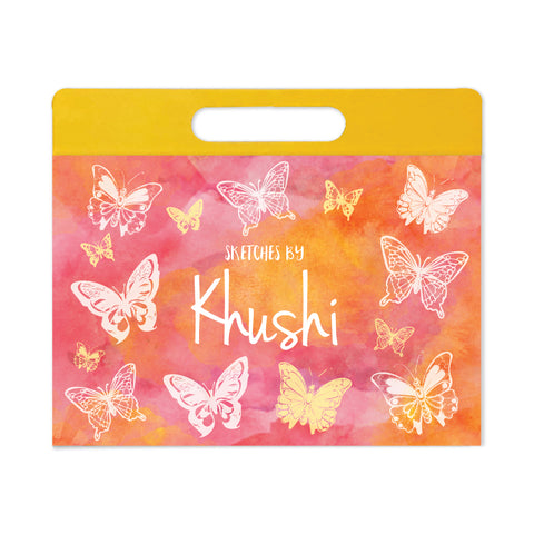 Personalised Travel Sketch Pad - Butterfly