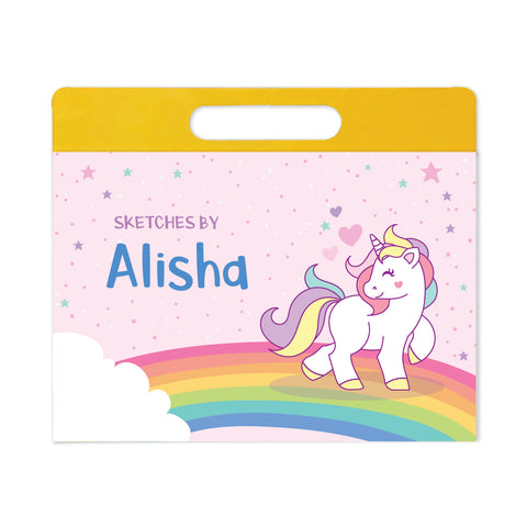 Personalised Travel Sketch Pad - Unicorn
