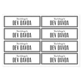 Transparent Labels - Plain (Mini, Pack of 64)