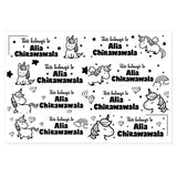 Transparent Labels - Unicorn (Mini, Pack of 64)