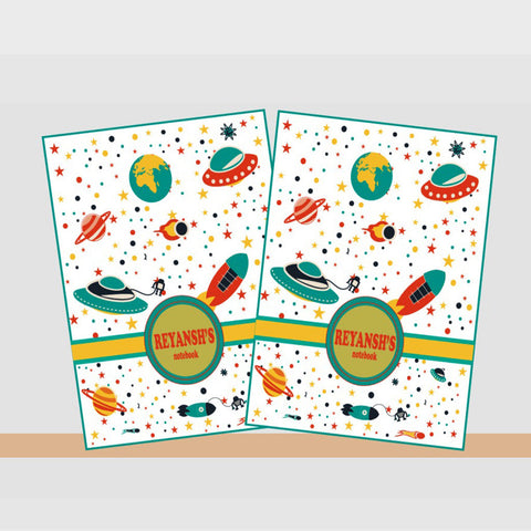 Notebooks, Set of 2<br/>Space Theme