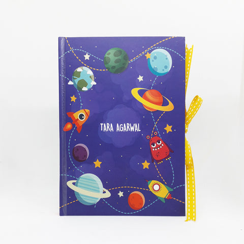 Personalised Notebook (A5 Size)- Outta this World