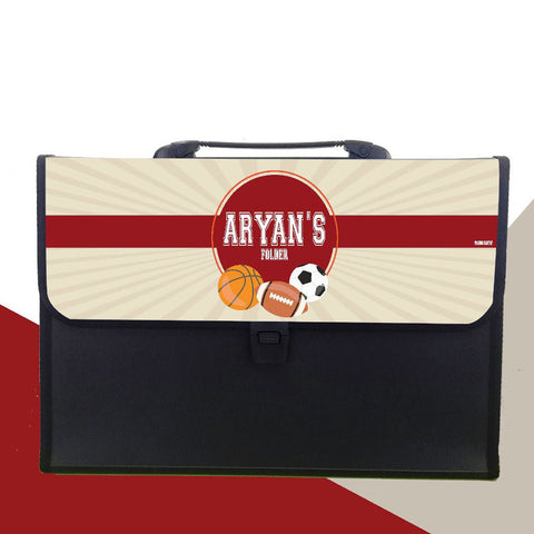 Personalised Folder<br/>Sports Theme