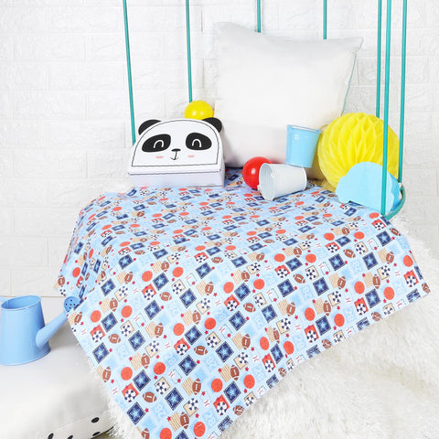 Kicks & Crawl - Sports Day Waterproof Bed Sheet