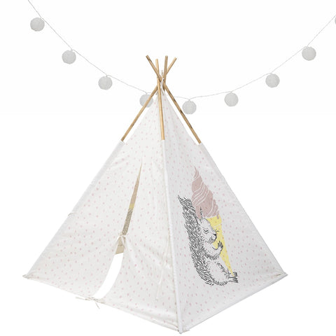 Teepee Tent - Squirrel Rose Pink