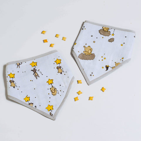 Starry Night Bandana Bibs, Set of 2