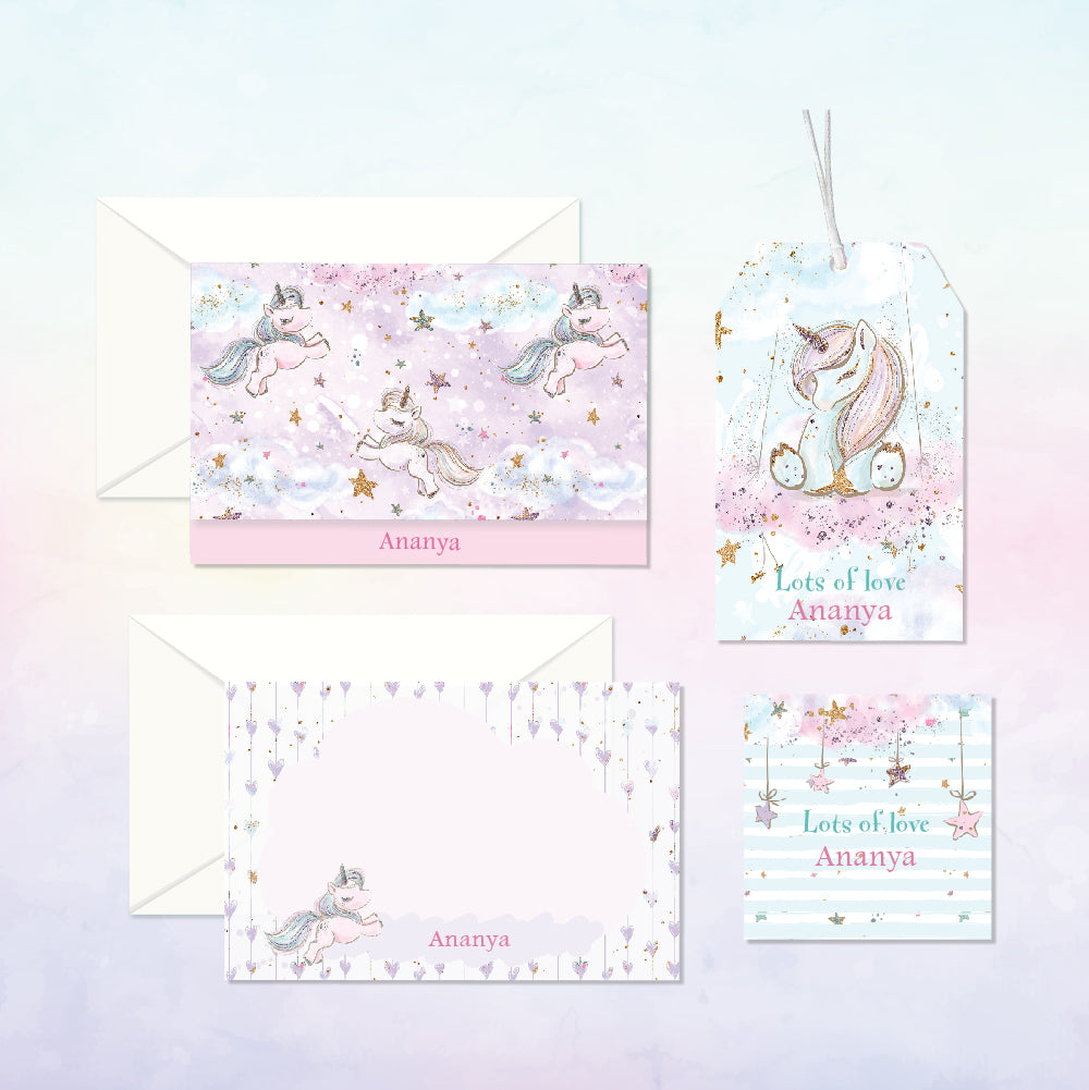 personalised luxury kid s stationery my baby babbles