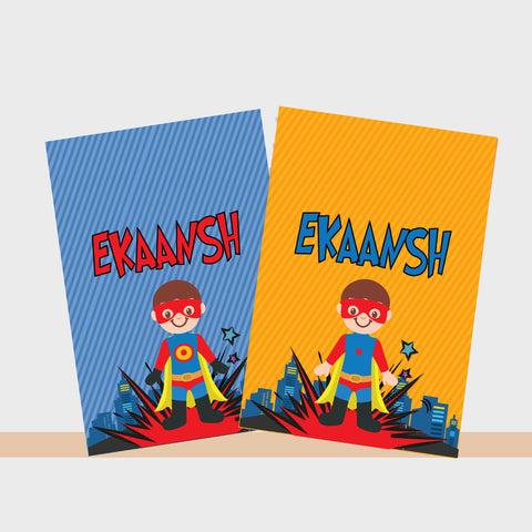 Personalised Notebooks - Superhero, Set of 2
