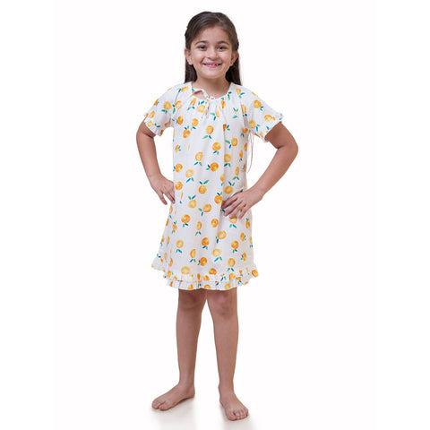 Girl's Nighty - Tangerine